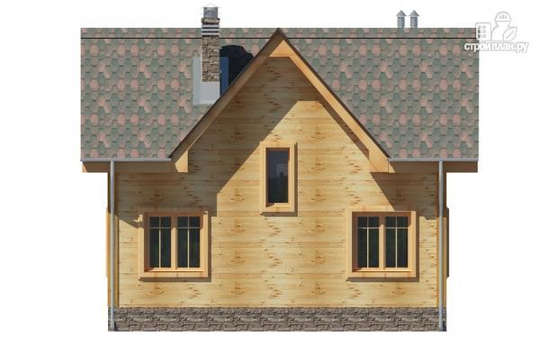 Фото 5: проект дом из дерева с мансардой