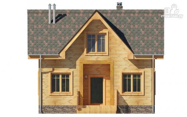 Фото 7: проект дом из дерева с мансардой