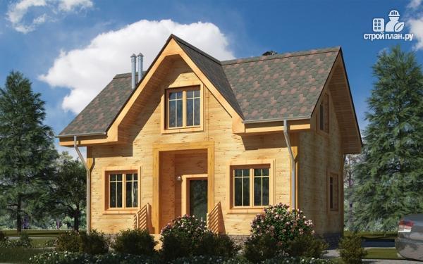 Фото: проект дом из дерева с мансардой