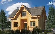 Фото: дом из дерева с мансардой