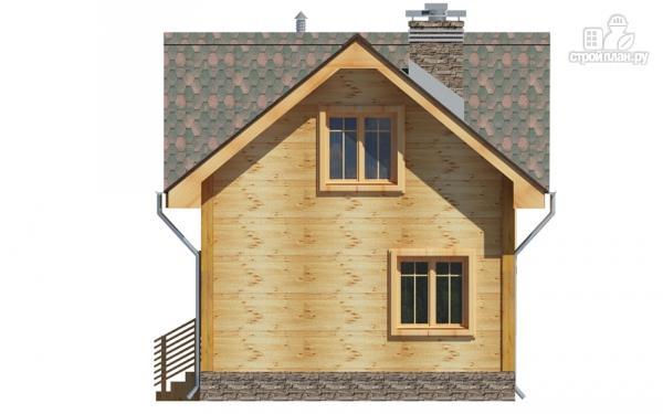 Фото 4: проект дом из дерева с мансардой
