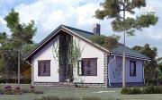 Фото: одноэтажный загородный дом с камином