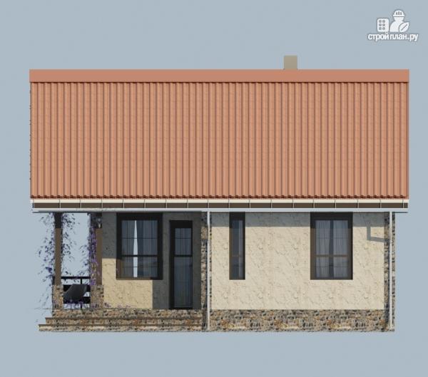 Фото 3: проект одноэтажный загородный дом с террасой