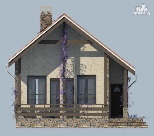 Фото 5: проект одноэтажный загородный дом с террасой
