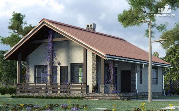 Фото: проект одноэтажный загородный дом с террасой