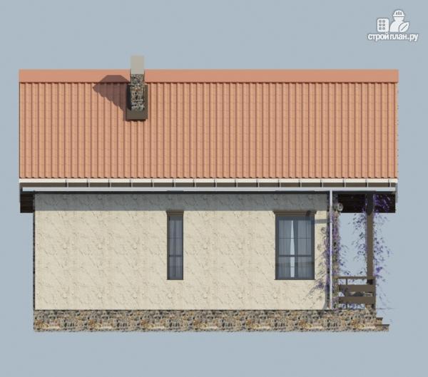 Фото 4: проект одноэтажный загородный дом с террасой