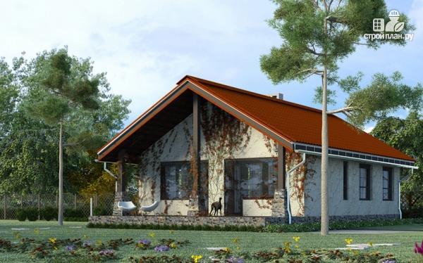Фото: проект одноэтажный дом с террасой