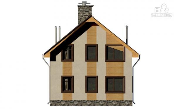 Фото 5: проект полутораэтажный дом с террасой и балконом