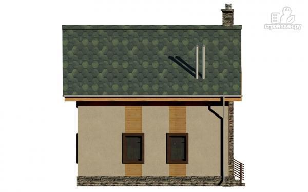 Фото 6: проект полутораэтажный дом с террасой и балконом