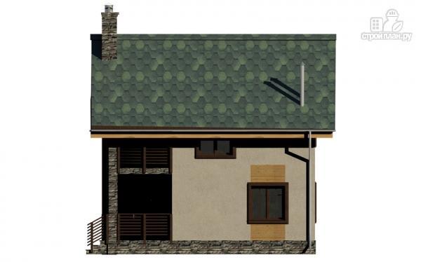 Фото 4: проект полутораэтажный дом с террасой и балконом