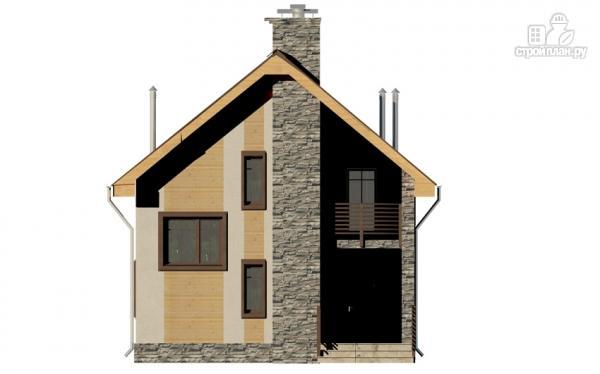 Фото 7: проект полутораэтажный дом с террасой и балконом