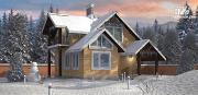 Проект дом с балконом, террасой и мансардой