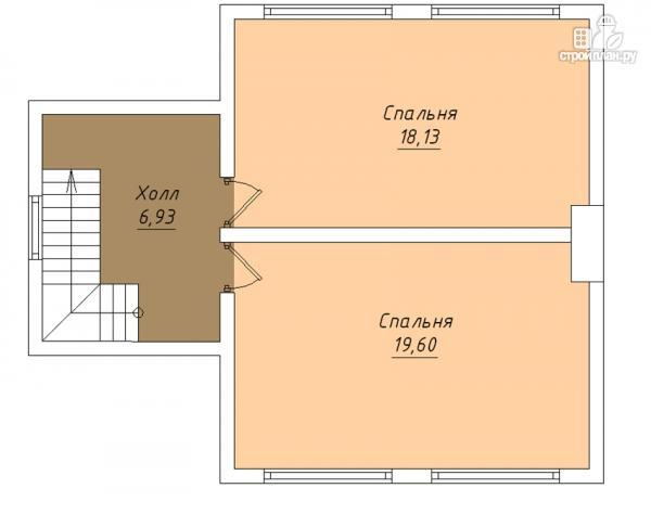 Фото 3: проект дом с крыльцом и гаражом
