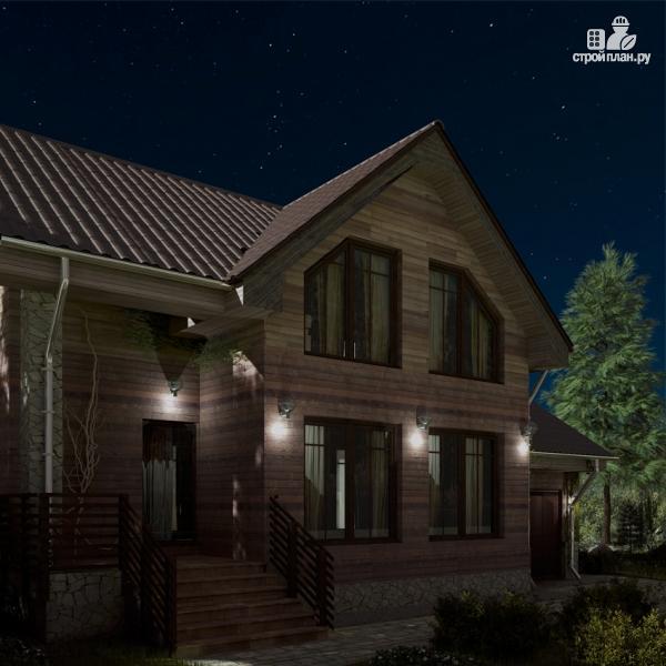 Фото 4: проект дом с крыльцом и гаражом
