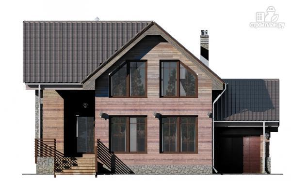 Фото 5: проект дом с крыльцом и гаражом