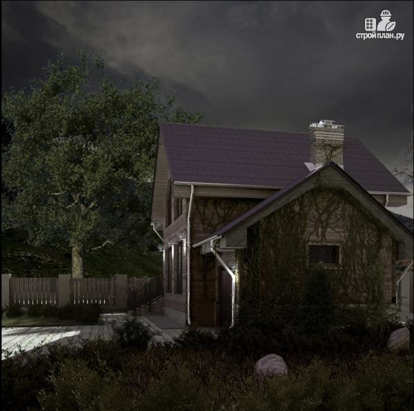 Фото 8: проект дом с крыльцом и гаражом