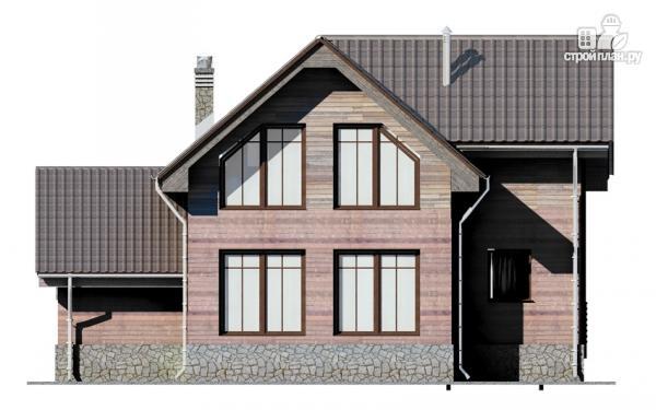 Фото 7: проект дом с крыльцом и гаражом