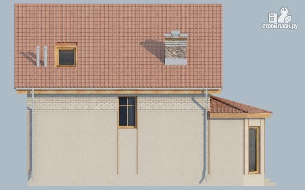 Фото 6: проект загородный дом с мансардой, эркером и террасой