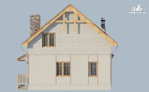 Фото 5: проект загородный дом с мансардой, эркером и террасой