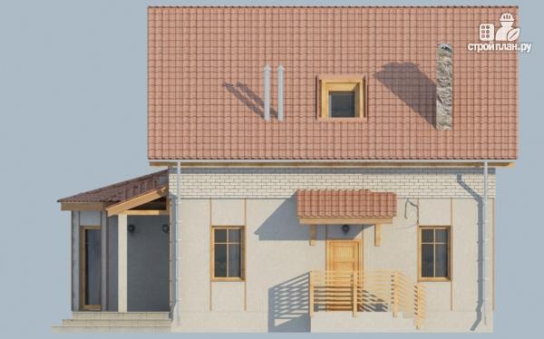 Фото 4: проект загородный дом с мансардой, эркером и террасой