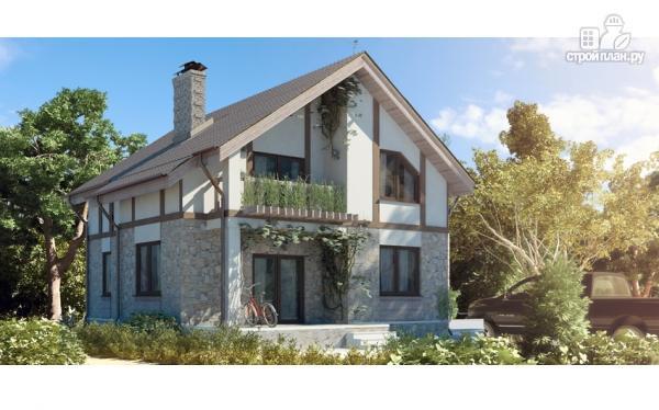 Фото: проект дом с террасами и балконом
