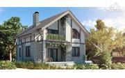 Фото: дом с террасами и балконом