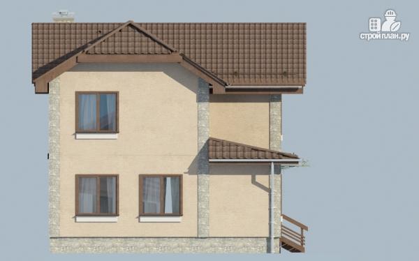 Фото 5: проект двухэтажный дом из газобетона с балконом и крыльцом