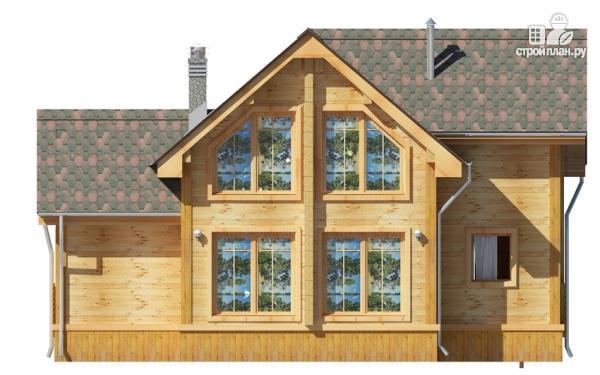 Фото 5: проект деревянный дом 9х9 с мансардой и террасой