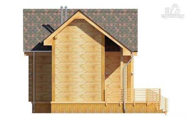 Фото 6: проект деревянный дом 9х9 с мансардой и террасой