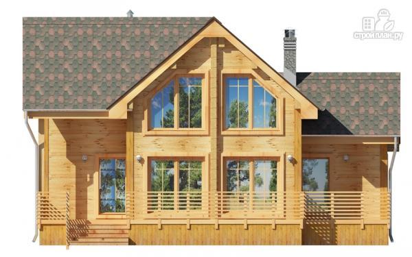 Фото 7: проект деревянный дом 9х9 с мансардой и террасой
