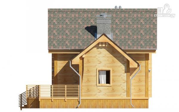 Фото 4: проект деревянный дом 9х9 с мансардой и террасой