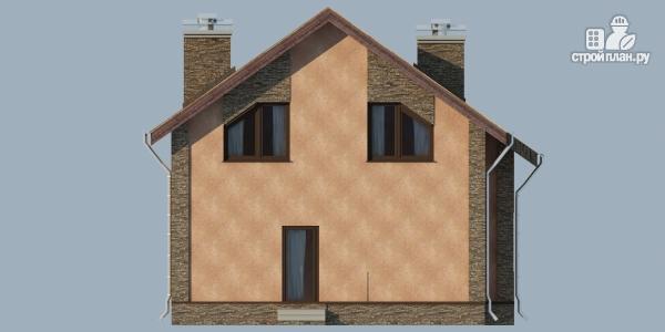 Фото 7: проект дом из газобетона с террасой, балконом и сауной