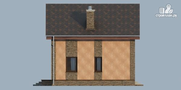 Фото 6: проект дом из газобетона с террасой, балконом и сауной
