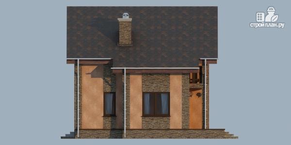 Фото 5: проект дом из газобетона с террасой, балконом и сауной