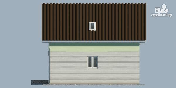 Фото 5: проект каркасный дом с балконом и угловой террасой