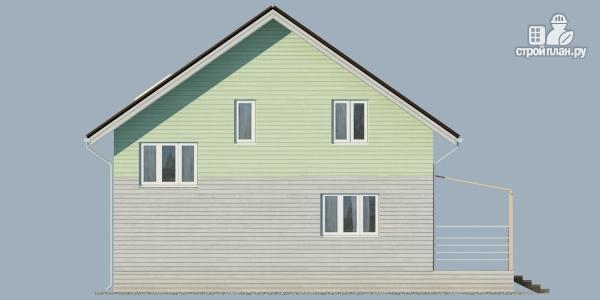 Фото 4: проект каркасный дом с балконом и угловой террасой