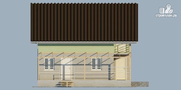 Фото 6: проект каркасный дом с балконом и угловой террасой