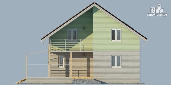 Фото 7: проект каркасный дом с балконом и угловой террасой