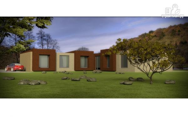 Фото: проект одноэтажный дом для углового участка