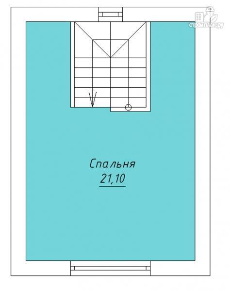 Фото 3: проект дом с террасой и мансардным этажом