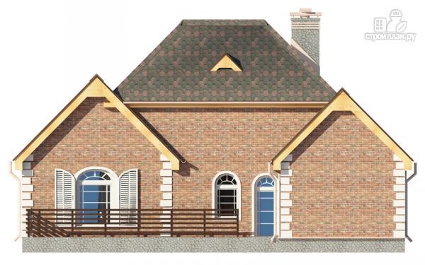 Фото 6: проект дом с террасой и мансардным этажом