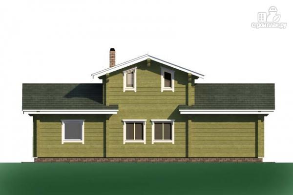 Фото 4: проект дом из дерева с террасой и балконом