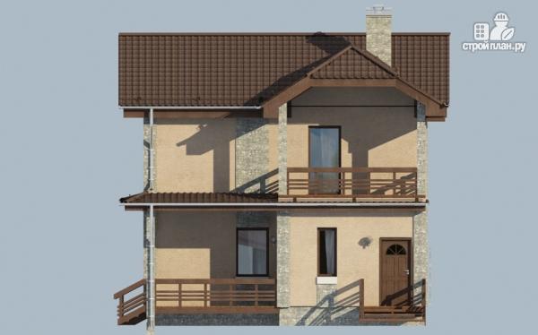 Фото 4: проект дом с террасой и балконом
