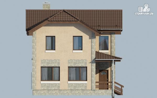 Фото 6: проект дом с террасой и балконом