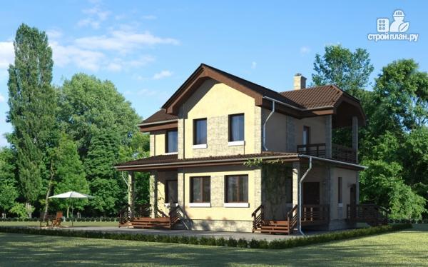 Фото: проект дом с террасой и балконом