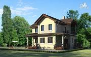 Проект дом с террасой и балконом
