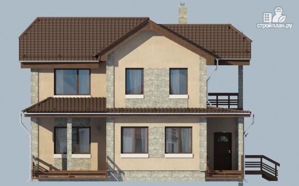 Фото 5: проект дом с террасой и балконом