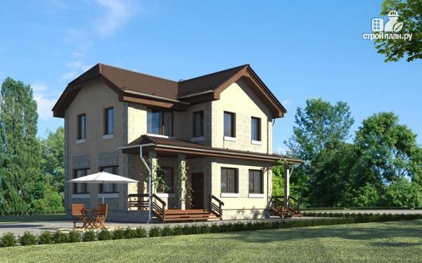 Фото 8: проект дом с террасой и балконом