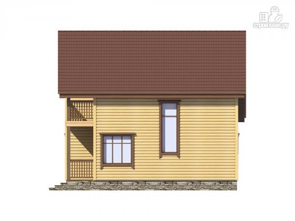 Фото 5: проект каркасный дом с террасой, балконом и сауной
