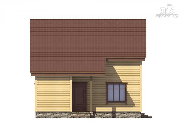 Фото 7: проект каркасный дом с террасой, балконом и сауной